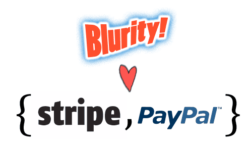 Blurity loves the set of Stripe and PayPal